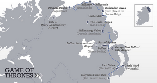 Nothern Ireland Game of Thrones Locations